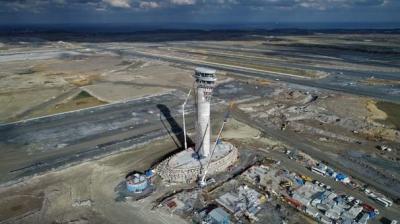 3. Havalimanı'nın lale figürlü kulesinin yüksekliği 90 metreye ulaştı